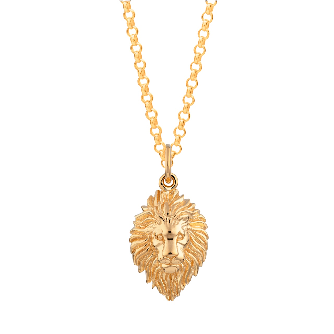 Gold Lion Head Necklace SPGLNH