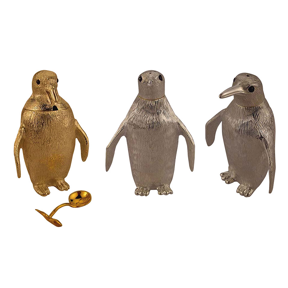 penguin condiment set