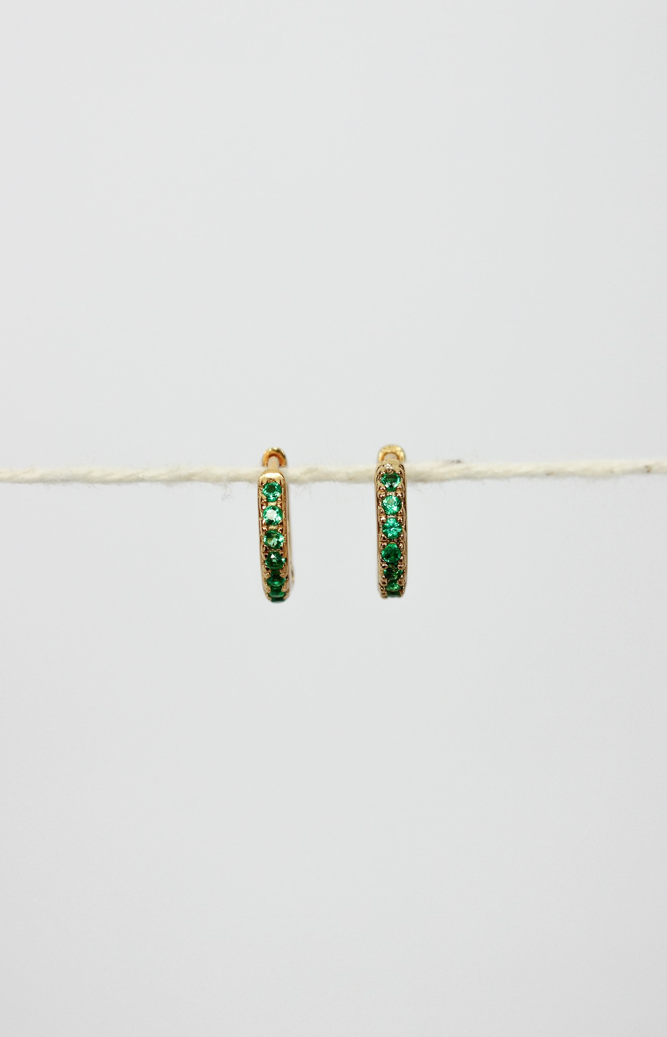 product photo victoria emerald cz earrings 2 1