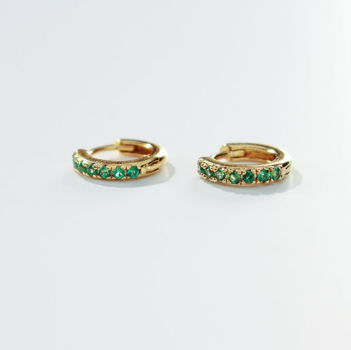 product photo victoria emerald cz earrings SQUARE