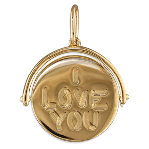 Silver Magpie I Love You Pendant